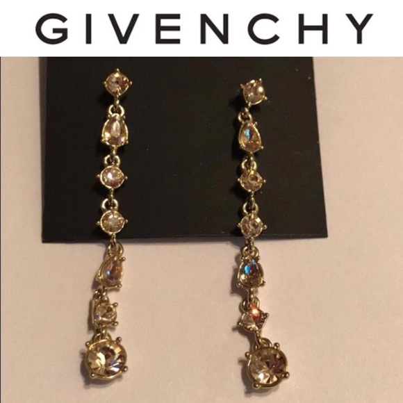 5454ebe8e359 Color Stone Linear Drop Earrings